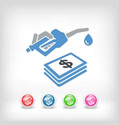fuel expense icon vector image