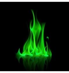 Green Magic Fire Flame Bonfire vector
