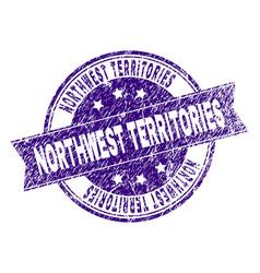 Grunge textured northwest territories stamp seal vector