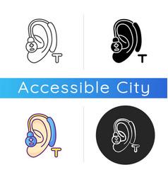 Hearing loop icon vector