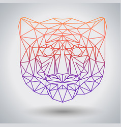 hipster polygonal animal tiger triangle animal vector image vector image