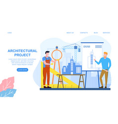 idea building project and construction work vector image
