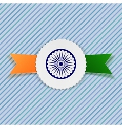 India Flag on realistic Badge vector