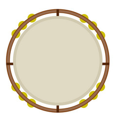 Isolated tambourine image vector
