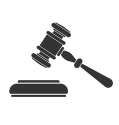 law and order or auction logo vector image