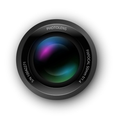 Lens for camer icon vector