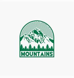 Mountains logo-badge-10 vector