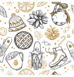 New year seamless pattern1 vector