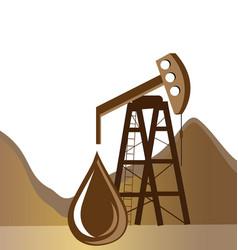 oil drilling process icon vector image