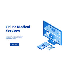 online medical service template 2 vector image