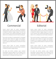 photographer and paparazzi with cameras banners vector image