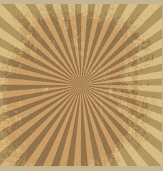 rays background brown burst it stylish vector image