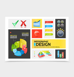 realistic infographic elements colorful concept vector image