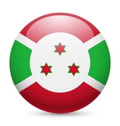 Round glossy icon of burundi vector image