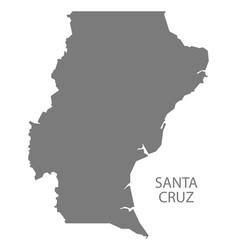 Santa cruz argentina map grey vector