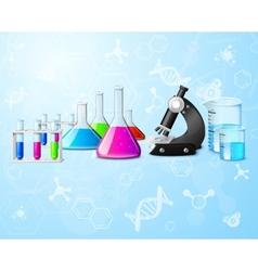 Scientific laboratory background vector image