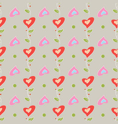 seamless pattern romantic love print colorful vector image