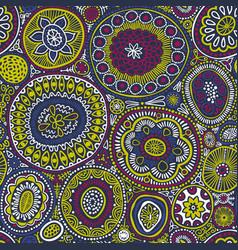 Seamless pattern seamless botanic texture vector