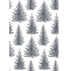 Seamless pattern with hand drawn winter vector