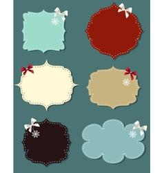 set of different speech bubbles design elements vector image