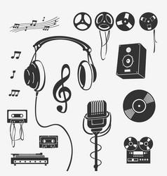 set symbols musical instrument vector image