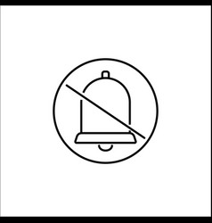 Soundless and mute line icon mobile sign vector