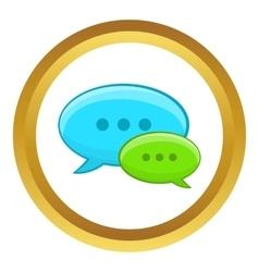 Speech bubble conversation icon vector image