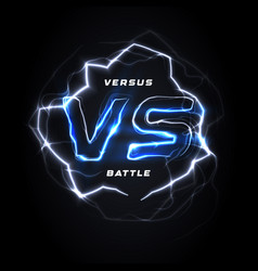 Versus vs round blue logo battle headline vector