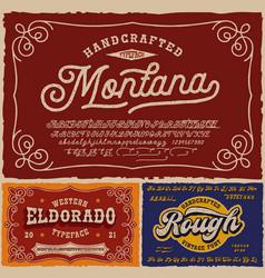 vintage fonts bundle vector image