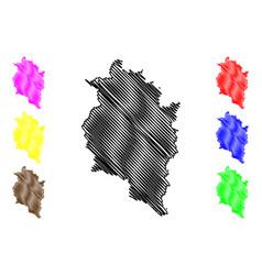 vorarlberg map vector image