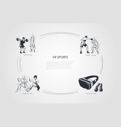 vr sports - home gym sport games martial arts vector image