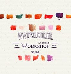 watercolor workshop banner for presentation vector image