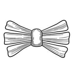 wedding bow icon hand drawn style vector image