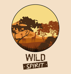 wild spirit animals vector image