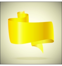 banner for the text yellow vector image vector image