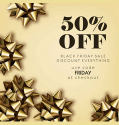 black friday sale discount for everything promo vector image vector image