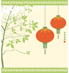 Chinese lanterns vector