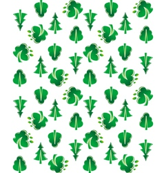 Green tree seamless background vector image vector image
