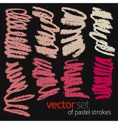 Pastel strokes set 3 vector image vector image