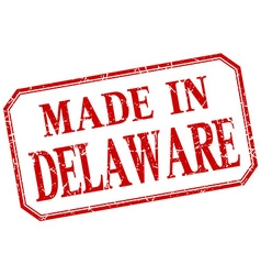 Delaware - made in red vintage isolated label vector