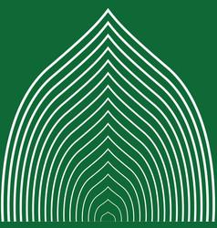 green striped leaf vector image