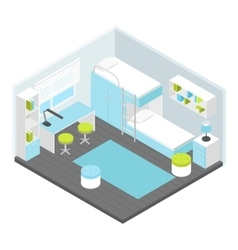 Isometric Children Room Composition vector image