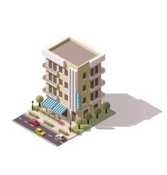 isometric restaurant building vector image