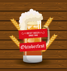 oktoberfest beer festival isolated vector image vector image