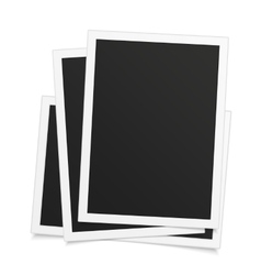 Old photo frame on white vector image