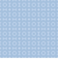 blue background with seamless pattern vector image vector image