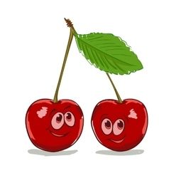 cartoon cherry vector image