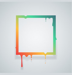 flowing art flux square drop leak abstract design vector image