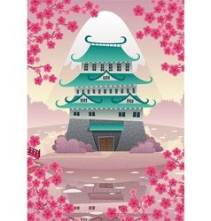Japanese Castle vector image vector image
