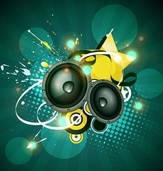 music artwork design vector image
